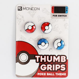 1Set Thumb grips Caps For NS Nintend Switch Poke Ball Silicone Non-slip Thumb Grip For Pokeball Handle Button Cap set Accessory