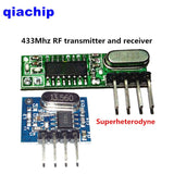 1Set superheterodyne 433Mhz RF transmitter and receiver Module kit small size For Arduino uno Diy kits 433 mhz Remote controls