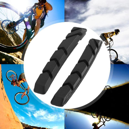 1pair Black Shoes Rubber Blocks Cycling Accessories Mountain Road Bike Brake Pads Bicycle Braking V-Brake Holder