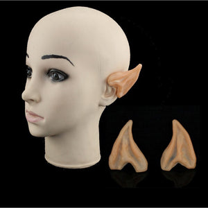 1pair Halloween Ghost Festival Make-up Dance Props Simulation of sharp ears role-playing fun gags practical jokes toy