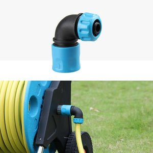 "1pc 1/2"" (12.5mm) ABS Garden Water Connector Soft Water Pipe Elbow Faucet Joint Garden Irrigation Hose Reel Quick Connectors"