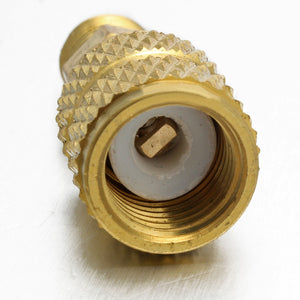 """Brass Air Conditioners Adapters Mayitr R410a Adapter Fitting 1//4/"""" Male to 5//16/"""""""