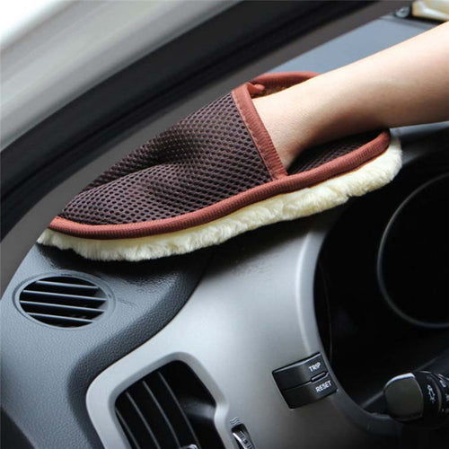 1pc Car Cleaning Glove Auto Plush Vehicle Wash Mitten Cloth Cleaning Polishing Mitt Brush Car Motorcycle Washer