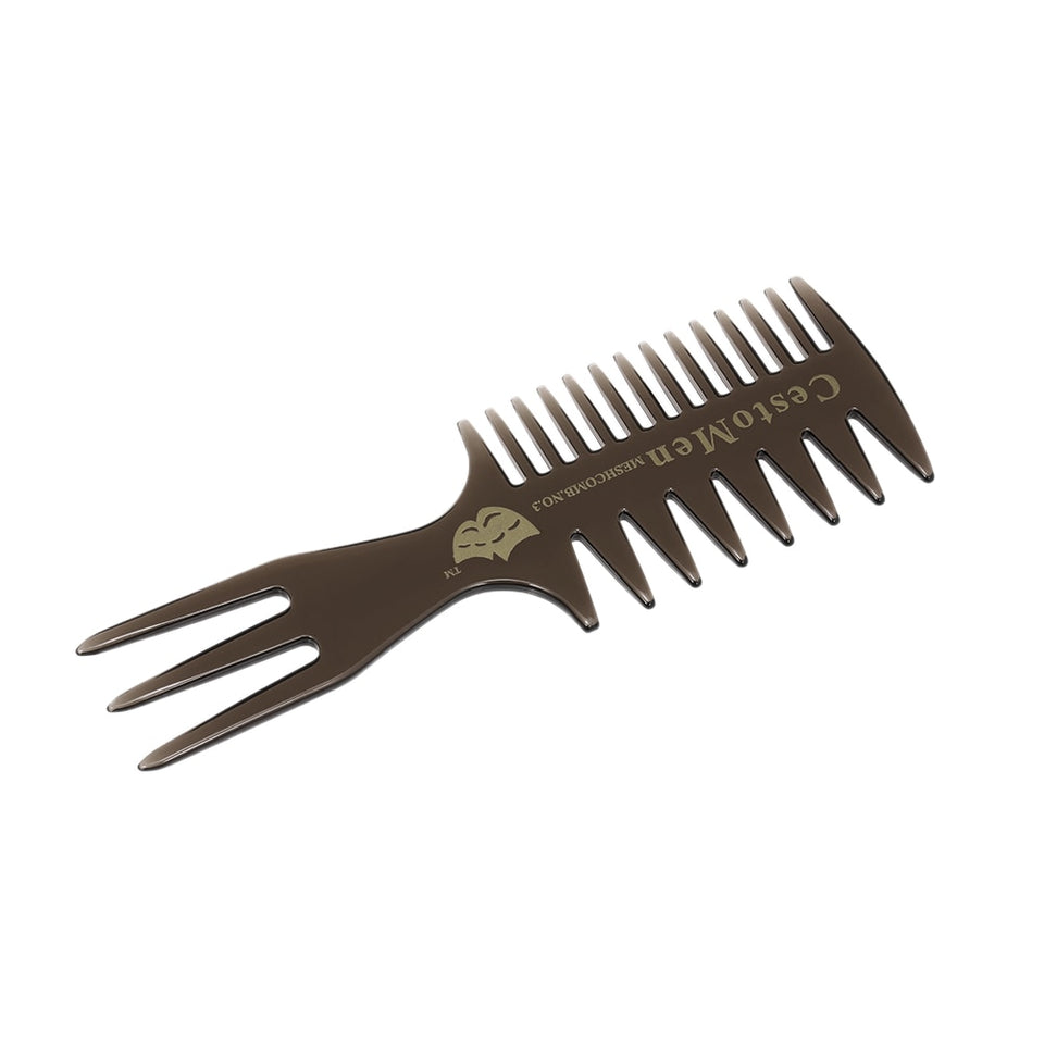 1pc Durable Three-sided Hair Comb Massage Comb Insert Afro Hair Pick Comb Male Wide Tooth Classic Oil Slick Styling Hair Brush