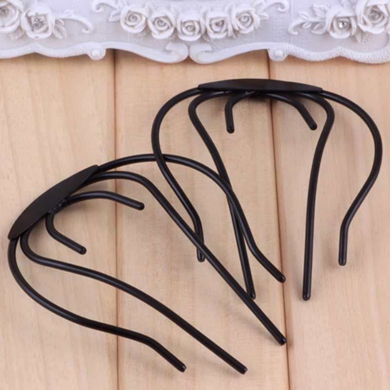 1pc Women Girl Hair Braiders Carbon Steel Hair Braiding Tool Unique Design Easy Updo Home Hair Beauty Clips Diy Makeup Gift