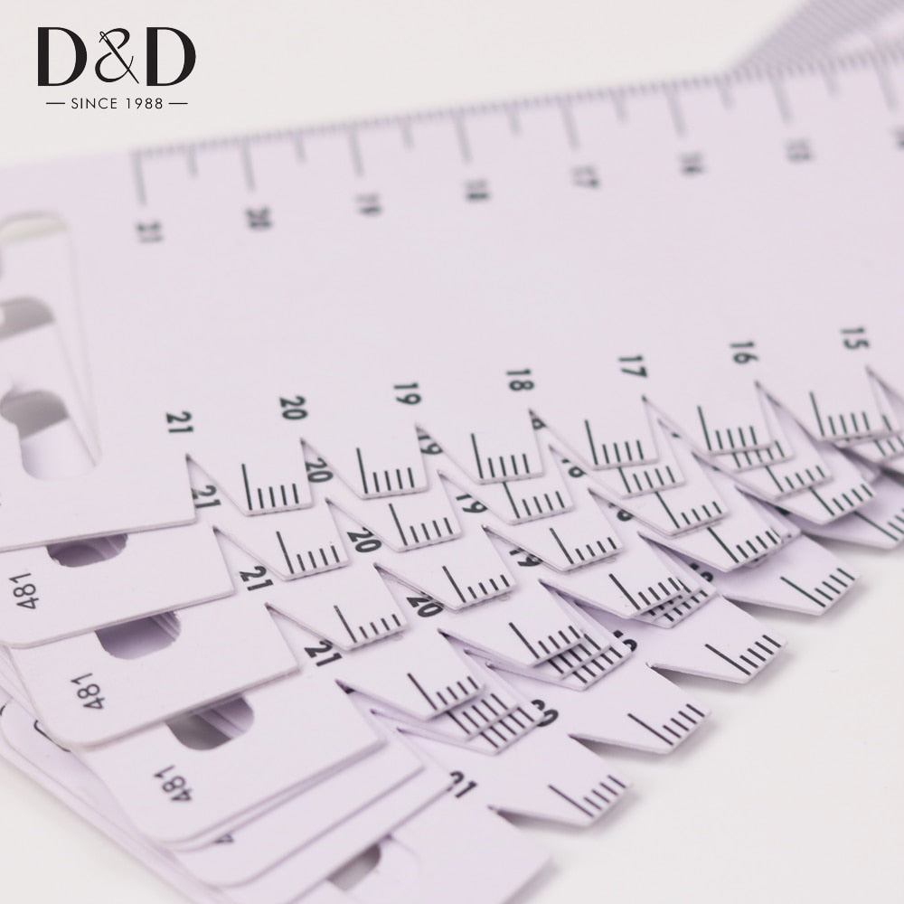 1pc Sewing Measuring Tools Ultrathin Soft Quilting Measure Ruler Gauge Seam Tailor's Ruler DIY Patchwork Tool Sewing Accessories