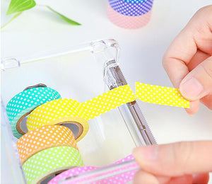 1pc plastic Japanese Stationery Masking Tape Cutter Washi Tape Storage Organizer Cutter Office Tape Dispenser Supplies