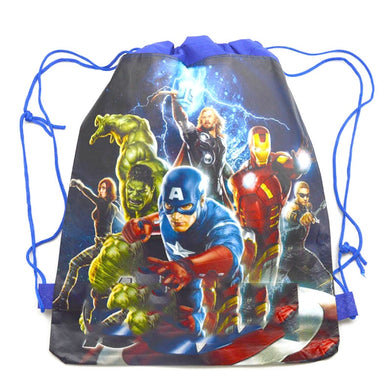 1pcs Decoration Events Party Backpack Baby Shower Boys Kids Favors Avengers Theme Drawstring Gifts Bags Happy Birthday Mochila