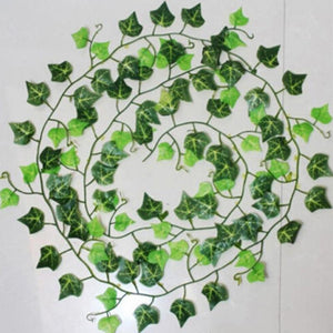 2.5m/98in Artifical Decoration Vine Delicate Artificial Ivy Leaf Garland Plant Vine Fake Foliage Wedding Parties Decor Supplies