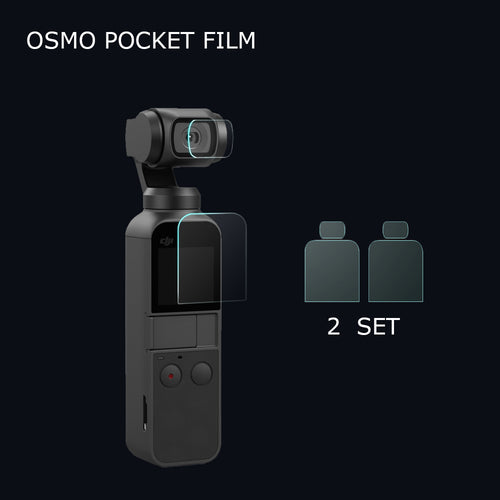 2 Pack OSMO Pocket Screen Protection Film+Lens Protection Film for DJI OSMO Pocket Protector Accessories