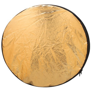 2 in 1 60CM 23 inch Round Flash Studio Collapsible Refletor Light Disc Silver Gold Riflettore  Reflector