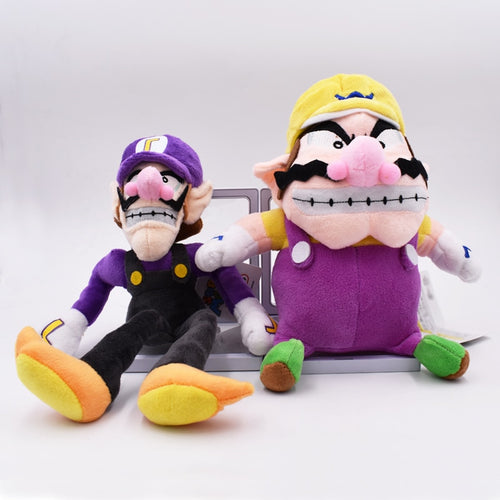 2017 s 2Pcs/Set Super Mario Bros Plush Toy Doll Soft Stuffed Animal Wario Waluigi Plush Doll Toys