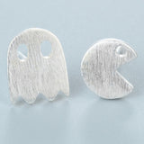 Chandler 2017 Animal and Ghost Adjustable Stretch Stud Earrings Cute Pac-Man Brincos Women Simple Cool Jewelry