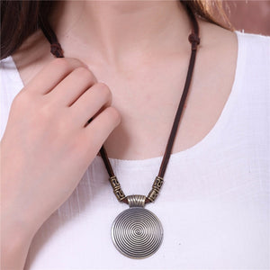 Chokers Vintage Women Jewelry choker necklace colar Long Genuine Leather statement necklace Woman collier kolye collares