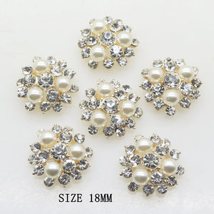 2018 Fashion 10pcs/Lot 18MM Round Buttons Decor accessories DIY Sewing Beautiful Button Wedding  Price