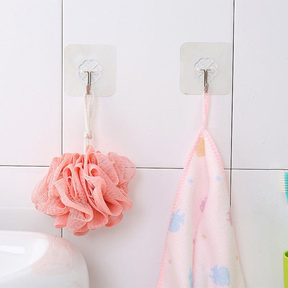 2019 Newest 2pcs Removable Bathroom Kitchen Wall Strong Suction Cup Hook Hangers Vacuum Sucker