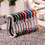 20PCS Aluminum Carabiner Key Chain Clip Outdoor Camping Keyring Snap Hook Water Bottle Buckle Travel Kit Climbing Accessories