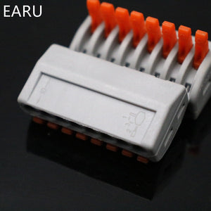 20Pcs PCT-218 PCT218 222-418 Universal Compact Wire Wiring Connector Connectors 8 pin Conductor Terminal Block With Lever