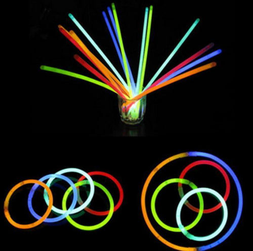 20pcs Glow Stick Safe Light Stick Necklace Bracelets Fluorescent for Event Festive Party Concert Decor Luminous LED Party Toys