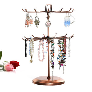 24 Hooks Vintage Jewelry Display  Stand Holder Jewelry Organizer Hard Display Stands