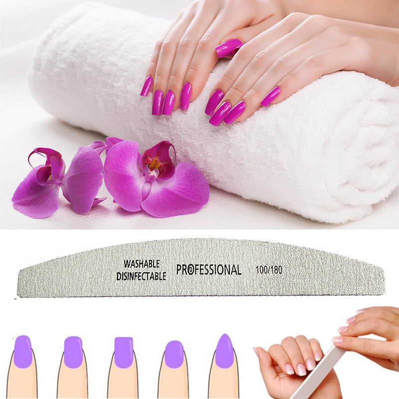25PCS Professional Nail Files Nail Art Sanding Files Buffing Curve Manicure Tools Set nagel vijlen Nail Buffer diagnostic-tool