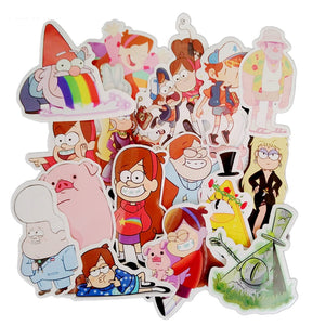 25Pcs/Many Amusing Gravity Falls Waterproof Sticker For Laptop Motorcycle Laptop Waterproof Skateboard Luggage Decal Toy