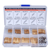 260Pcs/Set M2 3-25mm Male to Female Brass PCB Standoff Screw Nut Assortment Kit Set