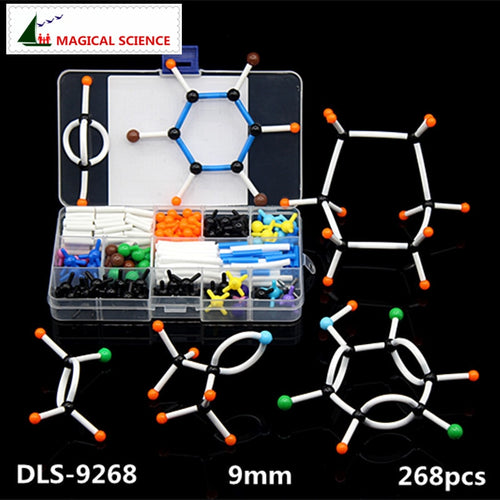 268pcs Molecular Model Set DLS-9268 Organic Chemistry Molecules Structure Model Kits For School Teaching Research 9mm Series