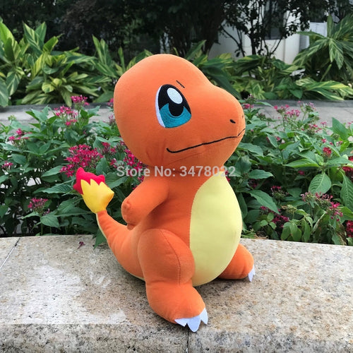 28cm Cute Anime Charmander Plush Hitokage Dragon Stuffed Toy Game Soft Doll