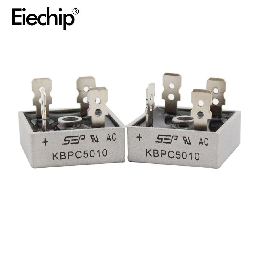 2PCS KBPC5010 diode bridge rectifier diode 50A 1000V KBPC 5010 power rectifier diode electronica componentes