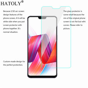 2PCS Tempered Glass sFor BBK Vivo V9 Ultra-thin Screen Protector for Vivo V9 HD Toughened Protective Film Vivo Y85 Glass HATOLY