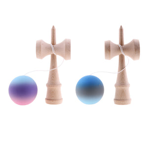 2Pcs Kendama Japanese Traditional Ball Wooden Cup Stick Game Playing Props Kids Outdoor Sports Toy for Children
