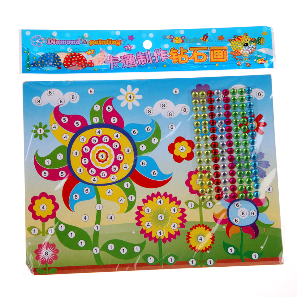 2Pcs DIY Diamond Stickers Handmade Crystal Paste Painting Mosaic Puzzle Toys Random Color Kids Child Stickers Toy Gift