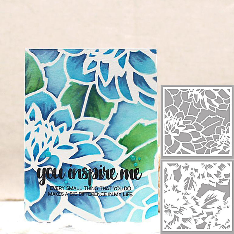 2pcs/Set Blooming Dahlia Stencil for DIY Scrapbooking 2019 DIY Paper Cards Making Plastic Templates Decoration Embellishment
