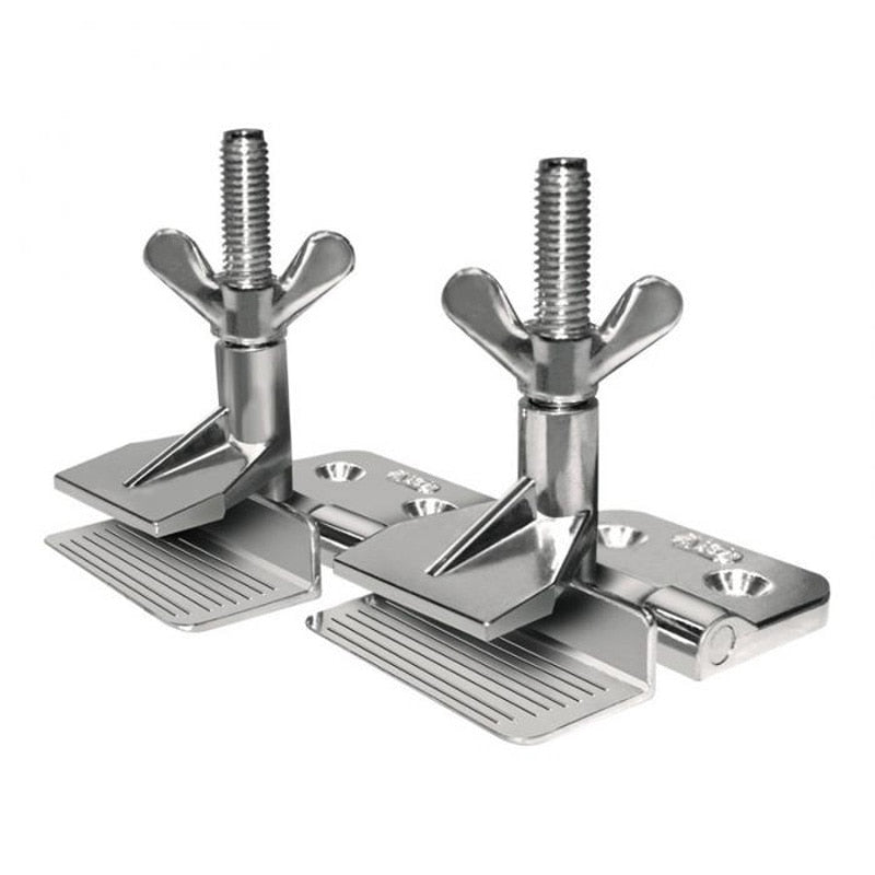 2pcs Zinc Alloy Silver Screen  Printing Clamps  Hinge Clamp Butterfly Hinge Clamp For DIY Fixing Screens Tool