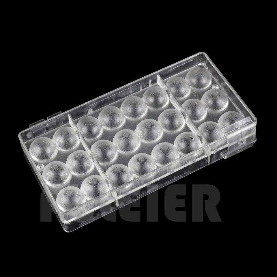 2pcs/set 3D ball with a hole shape Polycarbonate chocolate mold , PC sugarcraft candy mold Cake confectionery baking pastry tool