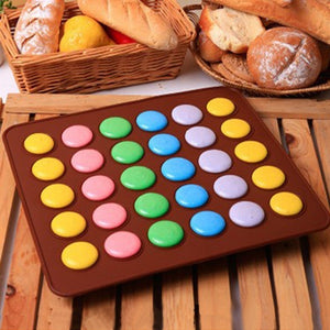 30-cavity Silicone Macaron Mat DIY Cake Mold Sheet Pastry Tools Baking Accessories