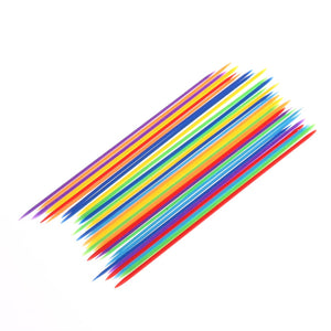 30PCS  Colorful Plastic Baby Children Educational Traditional Mikado Spiel Pick Up Sticks With Box Game Kids Gifts