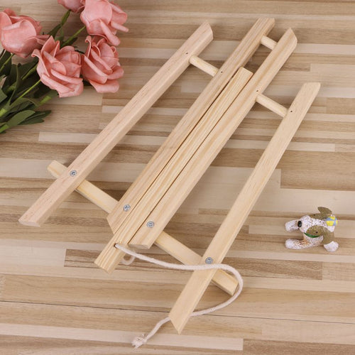 30cm Wood Easel Advertisement Exhibition Display Shelf Holder Studio Painting Wood Stand Art Supplies