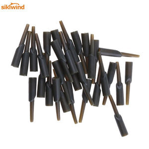 30pcs Carp Fish Tackle Accessories Tools Safe Zone Run Rig Rubber Chod Buffer Beads Holder Covert Sleeves Tube for Fishing Pesca