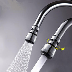 360 Rotating Faucet Extender Bathroom Kitchen Bubbler Splash-proof Headband Valve Pressure Reducing Water Spout Water Saver