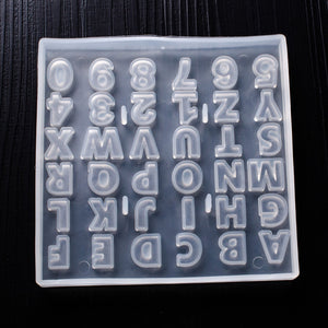 36pcs Capital Letter Number Silicone Mold fondant mold cake decorating tools chocolate gumpaste mold Alphabet Silicone Mold