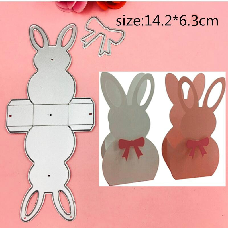 3D Rabbit Frame gate box Metal Cutting Dies Stencils for DIY Scrapbooking Stamp/photo album Decorative Embossing DIY Paper Cards