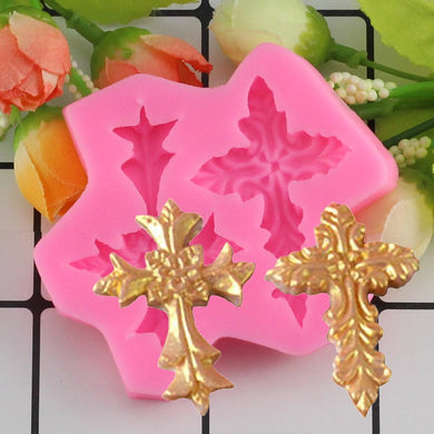 3D Silicone Cake Mold Cross Modeling Cake Decoration Tool Sugarcraft Cake Border Decoration Molds Fondant Chocolate Candy Moulds