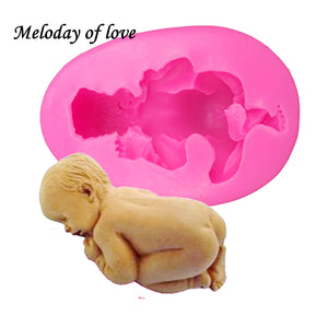 3D Sleep baby handmade soap mold chocolate cake decorating tools DIY cookies fondant silicone mold Fimo Silicone mould T0159
