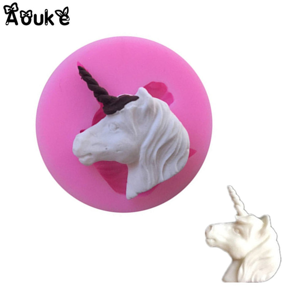 3D Unicorn Shape Silicone Mold Soap Fondant Chocolate Moulds Candy Cake Molds Embossed Baking Molds DIY Wedding Decoration Tools