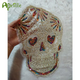 3d lace sequins skull patch DIY clothes stickers on patches for clothingembroidered motif beaded applique punk embroidery badges