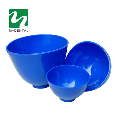 3pcs Dental Lab Rubber Mixing Bowls for Oral Hygiene Teeth Whitening Tool