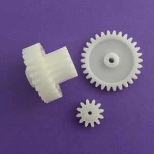 3pcs/lot J202Y M1 Plastic Gears 12T 30T 26T Module 1 Combination Reduction Gears DIY  Russia