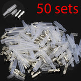 4.0 bullet terminal car electrical wire connector diameter 4mm pin set 50sets=200pcs Female + Male + Case